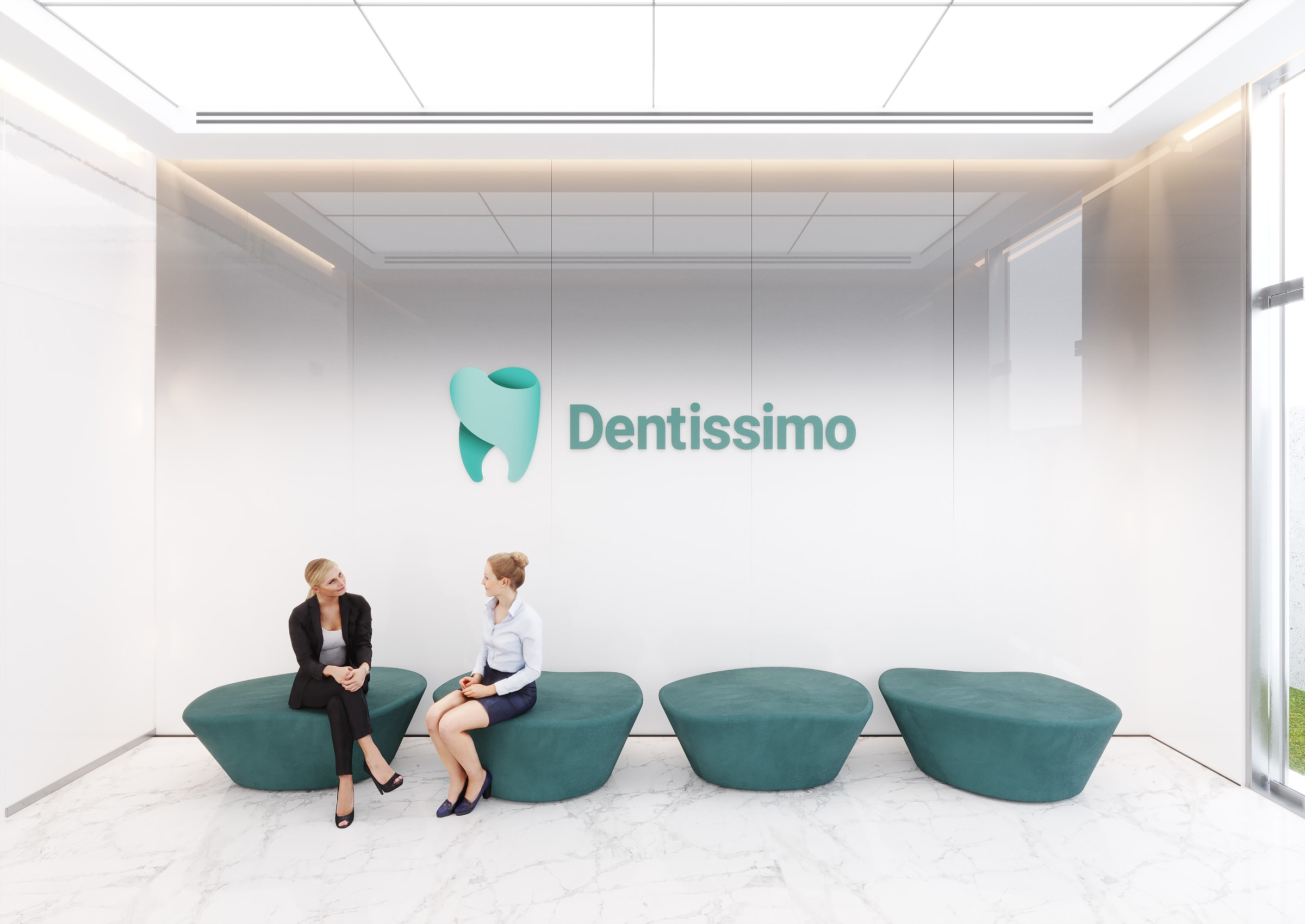Dental Office Interior Design - the ultimate freedom of white