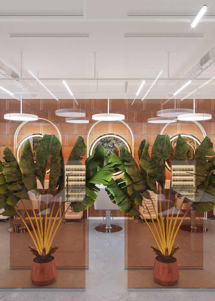 Design interior salon de frumusete Chisinau