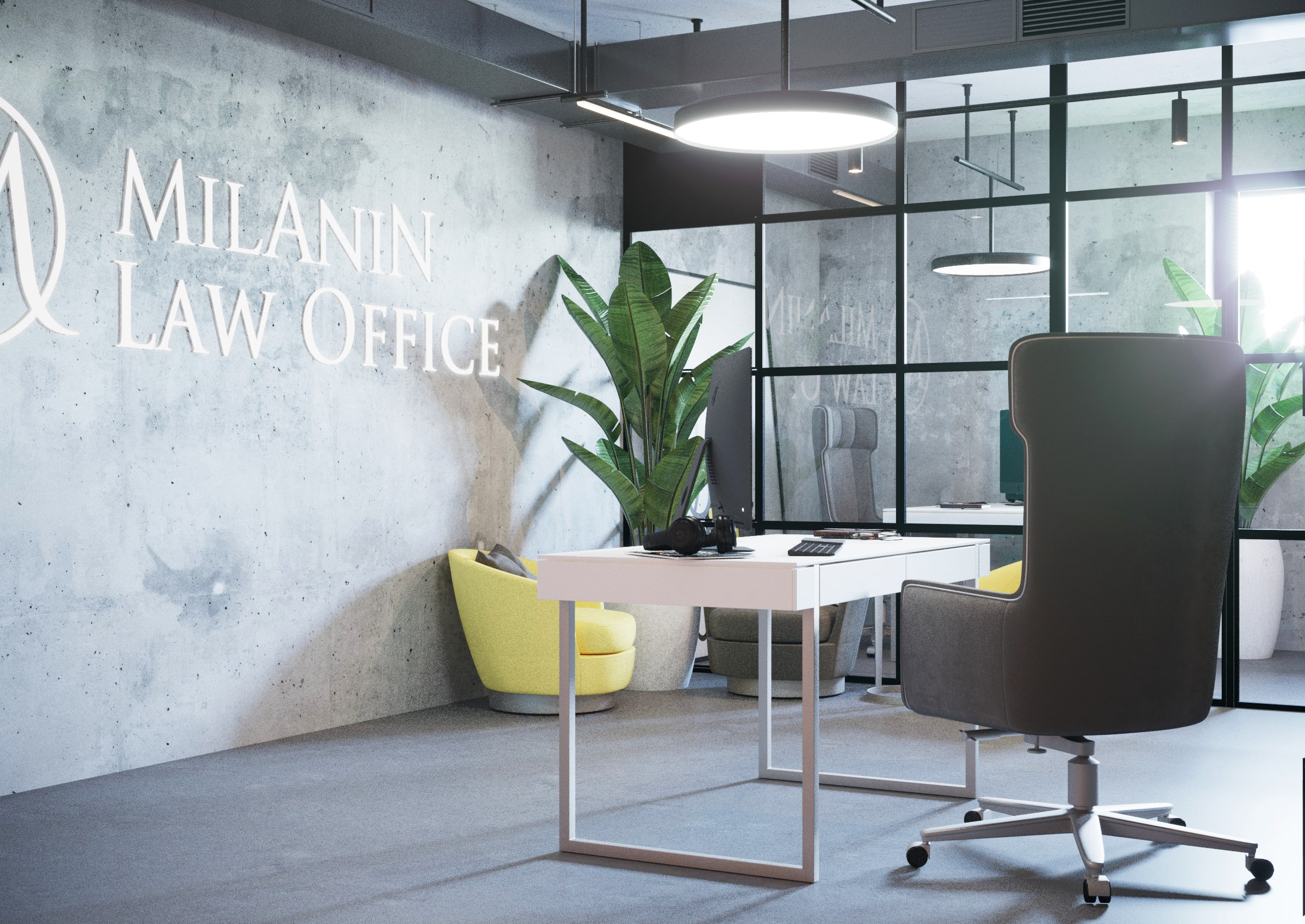 Milanin Law Office - Loft within the frame of law