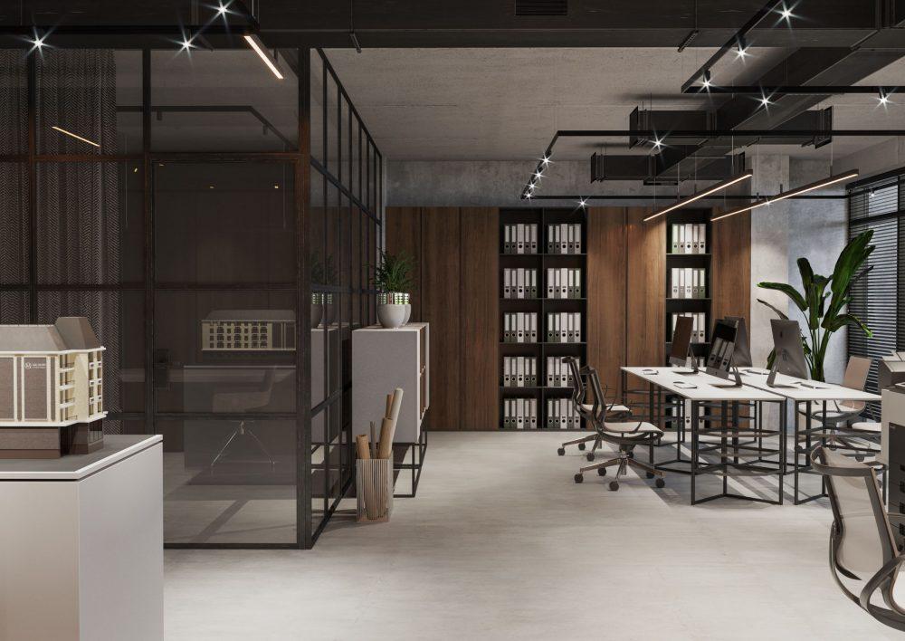 Imobil Office – strictețe, loft și elemente de decor clasice