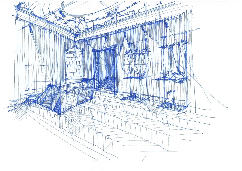 schita design interior Florence