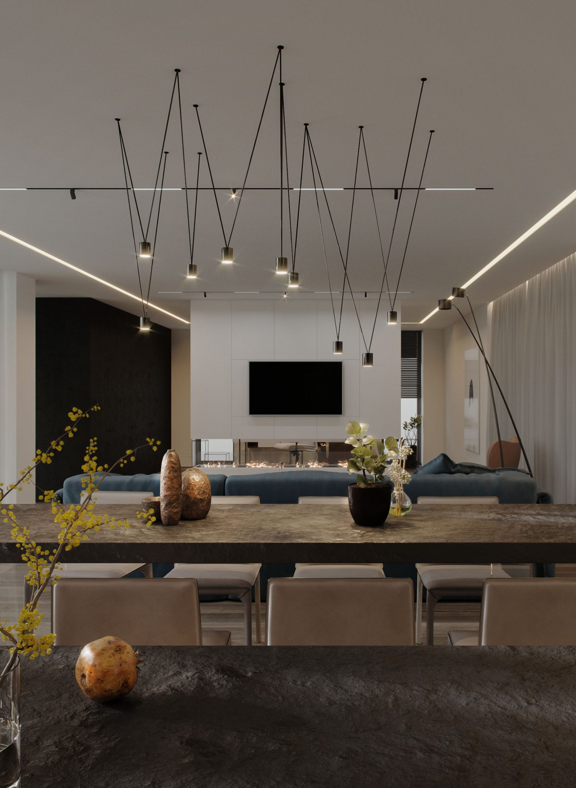 living amenajare de interior in stil modern