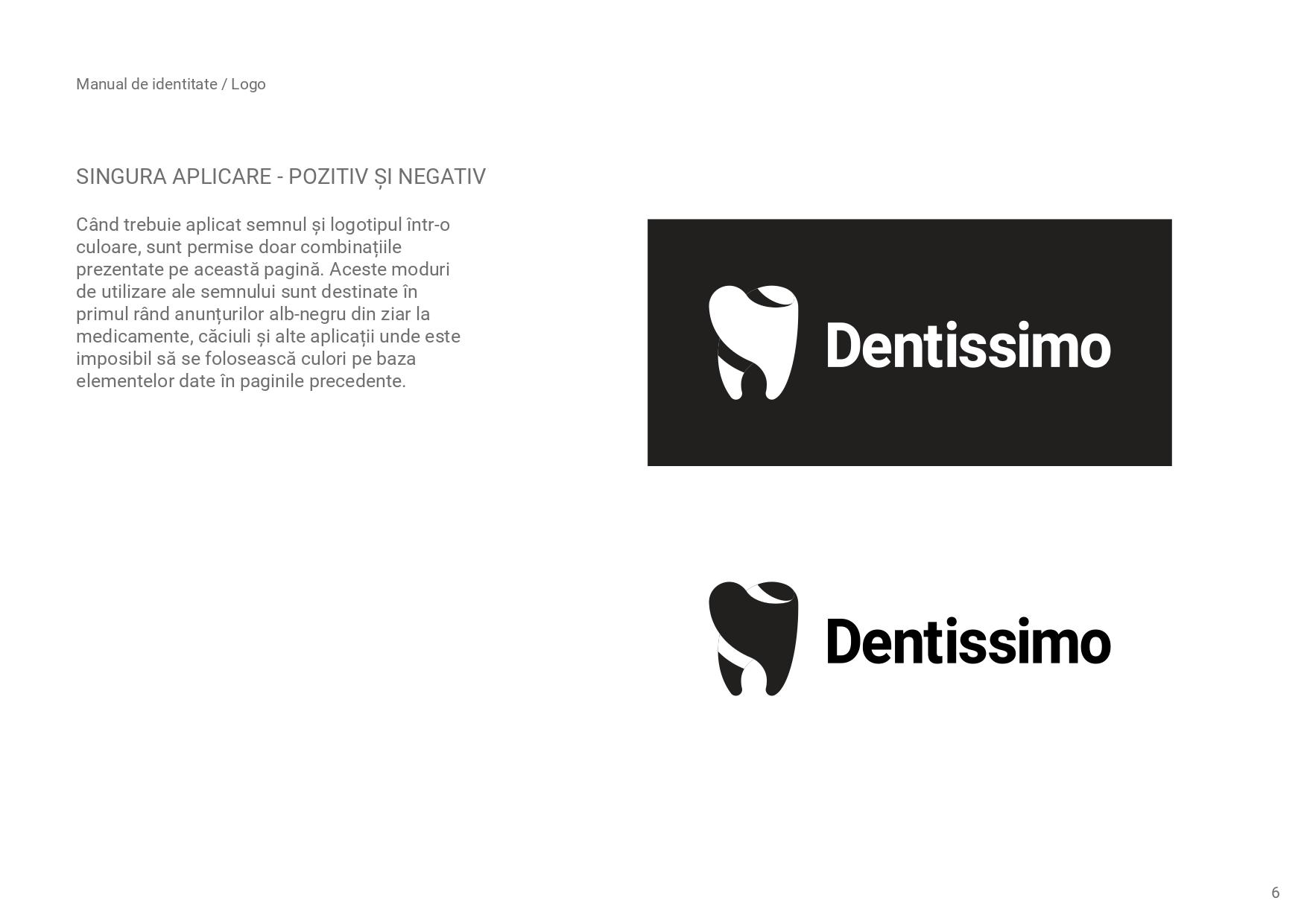 Dentissimo logo alb negru