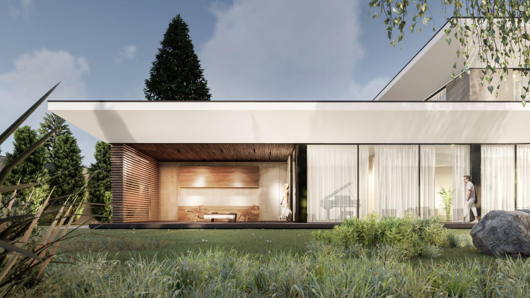 Casă de clasa premium cu living room conectat direct cu grădina