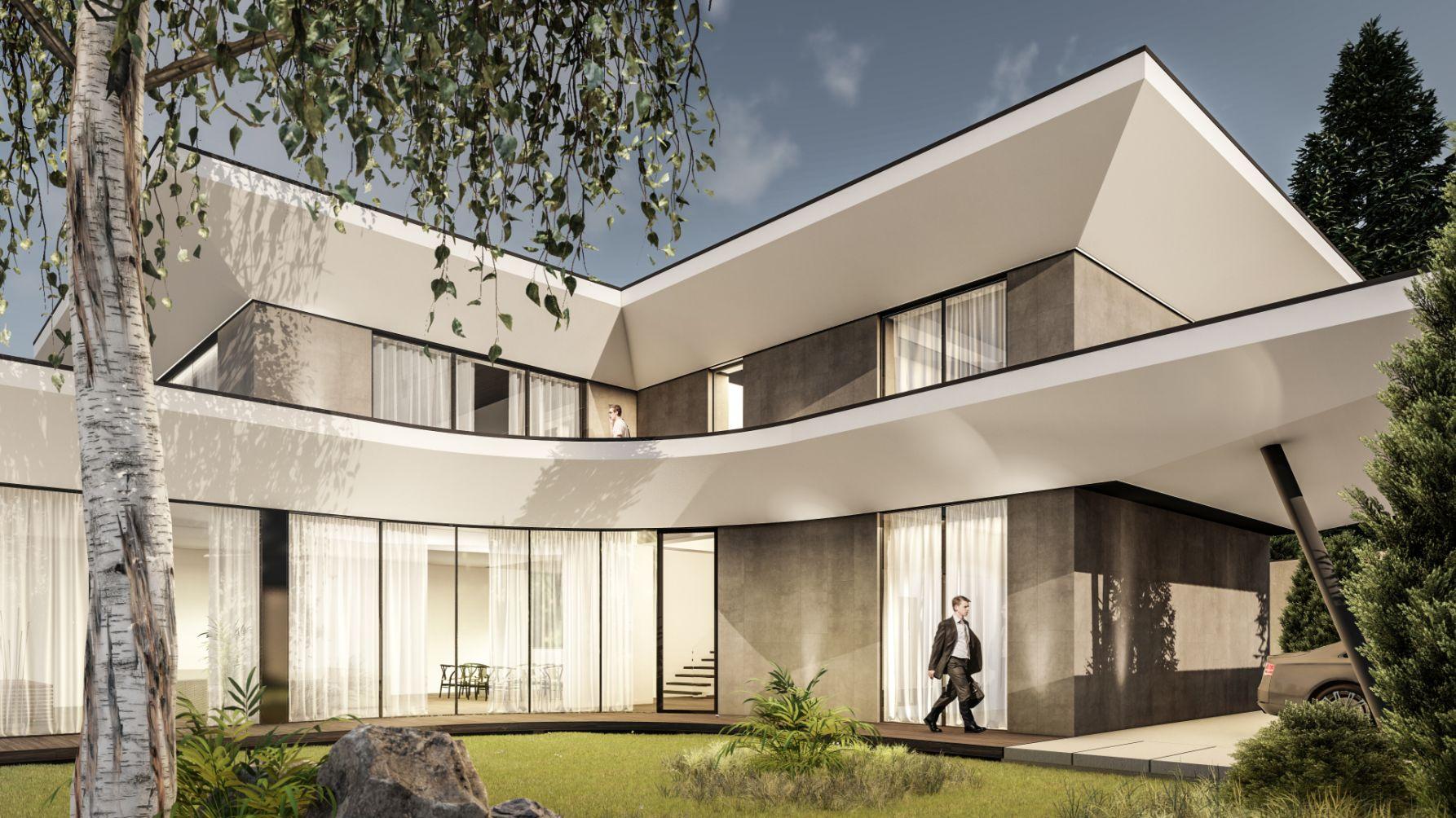 Locuință de lux pe două nivele parter și etaj cu dormitoare propria terasă