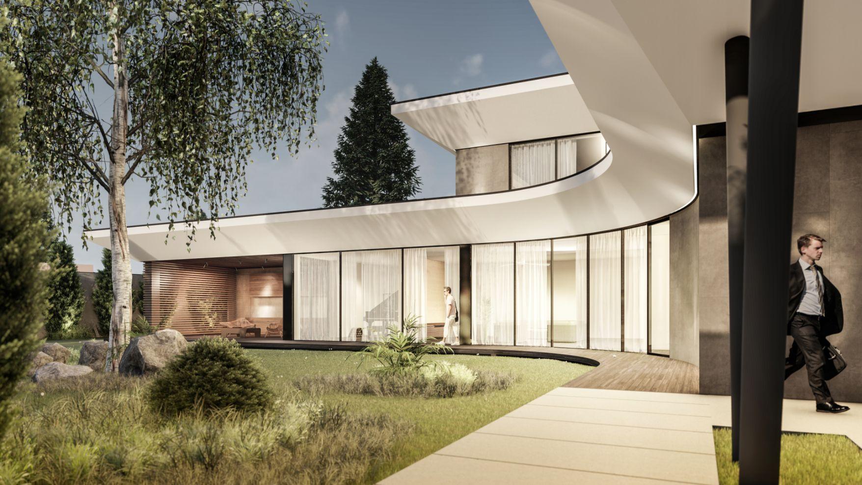 Proiect arhitectural a locuinței de casă premium cu propria gradină