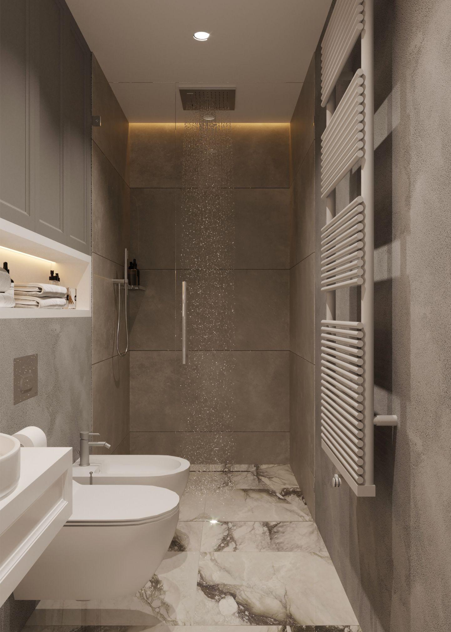 amenajare baie in stil contemporan