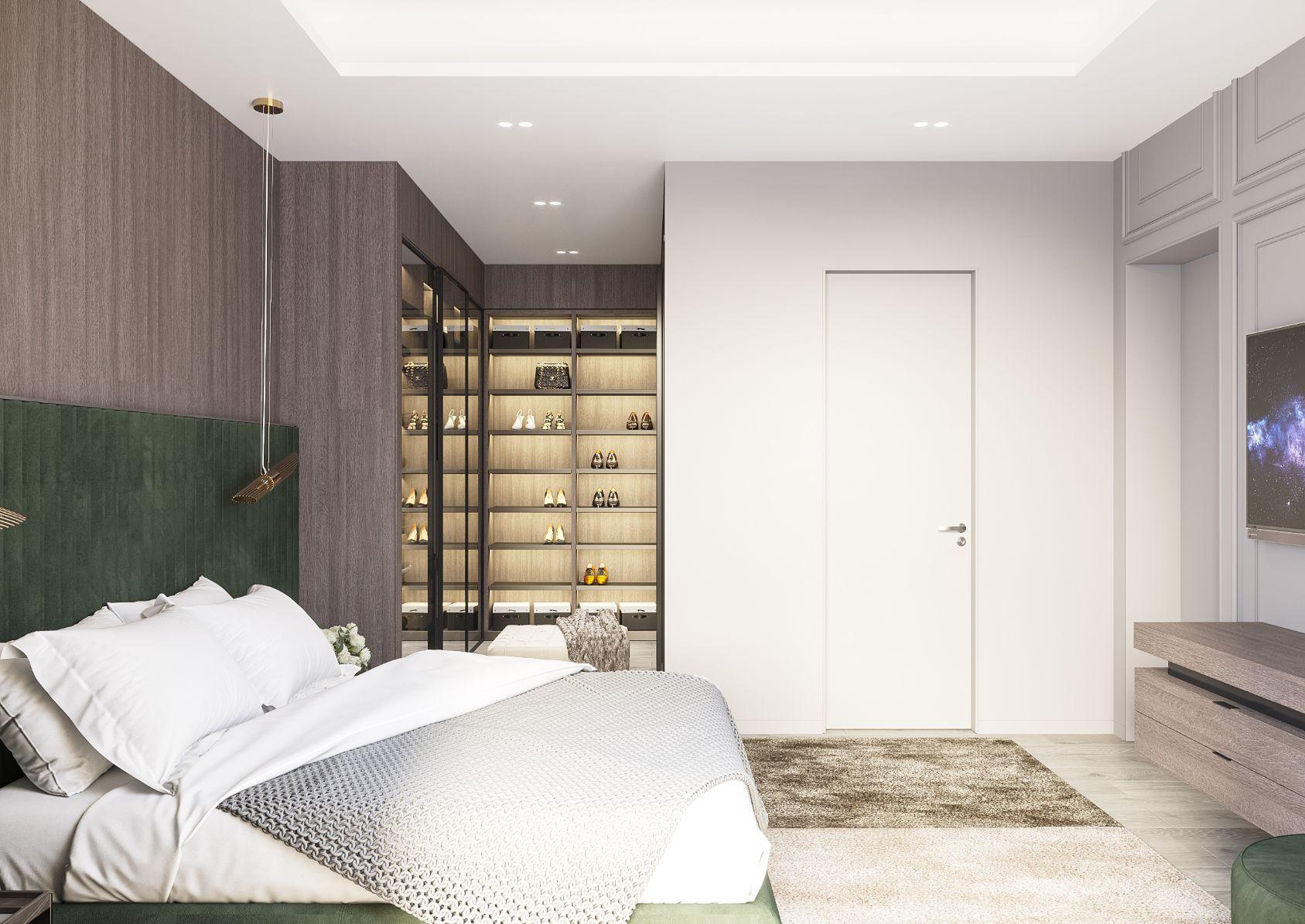 dormitor amenajare interioara