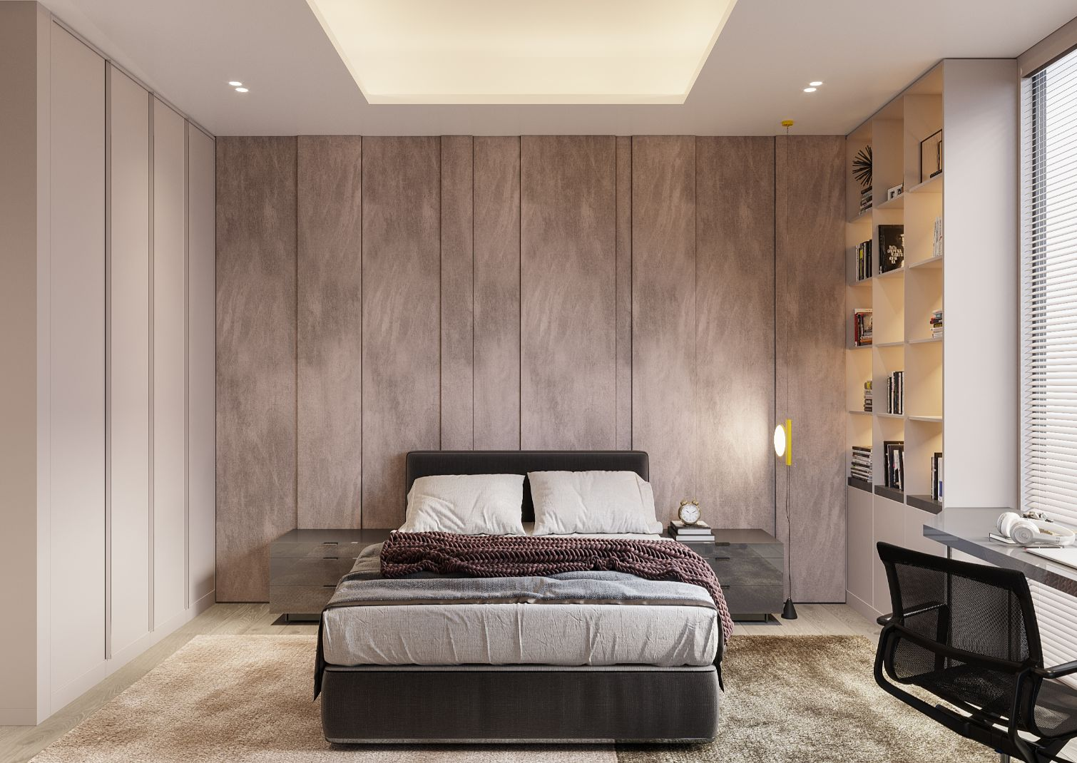 dormitor in stil minimalist