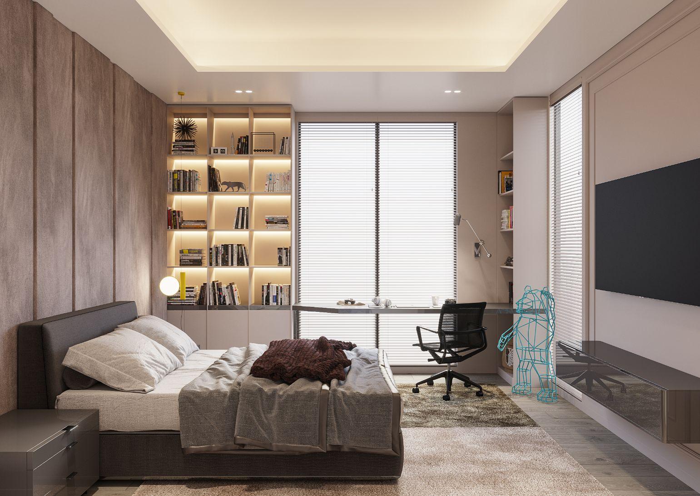 amenajarea dormitorului in stil minimalist