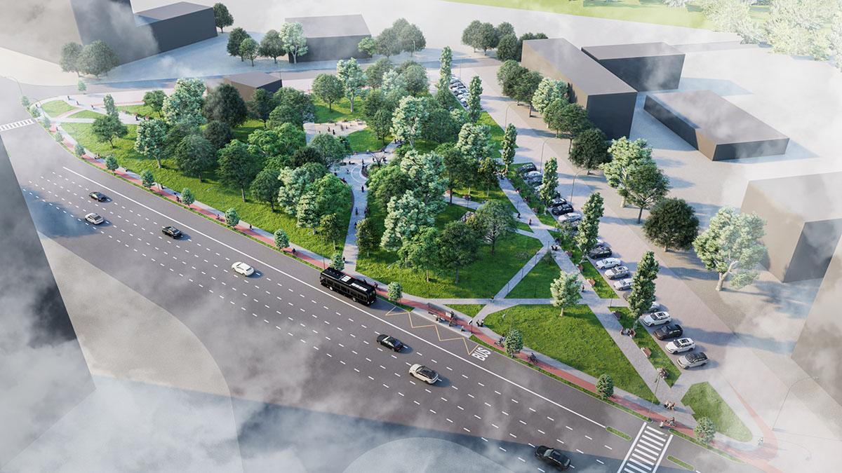 Proiectul arhitectural scuarul Bucuriei, spațiu public multifuncțional