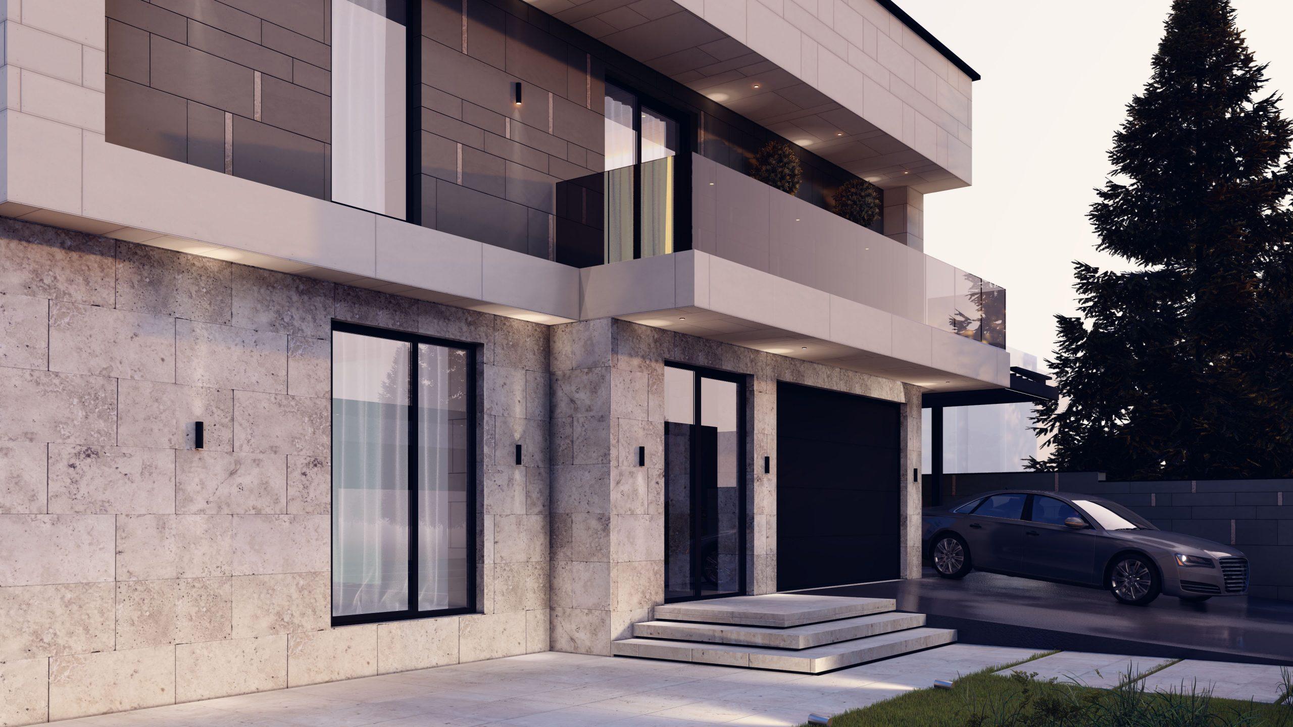 Design pentru casa modernă de inălțimea de 2 etaje, proiect arhitectural modern
