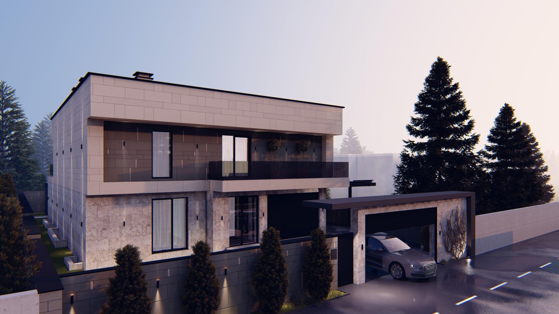 Design pentru casă modernă de lux cu curte interioară