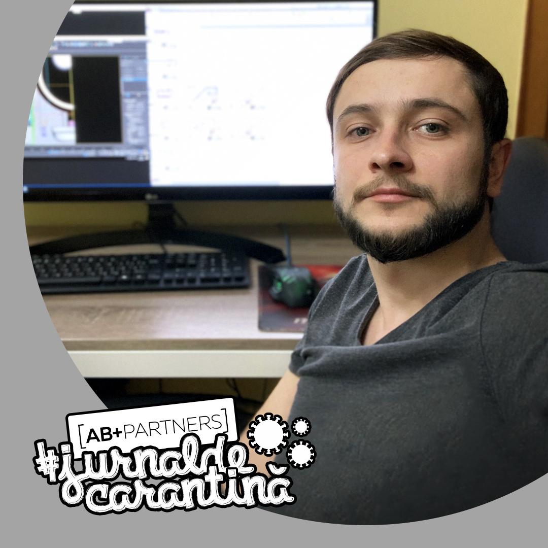 #jurnaldecarantină – Sergiu Tanasiev și-a mărit ziua de lucru în carantină. Se mai întâmplă…