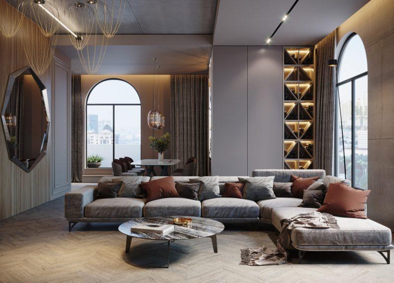 Elegant Penthouse – eleganță modernă în tonuri neutre