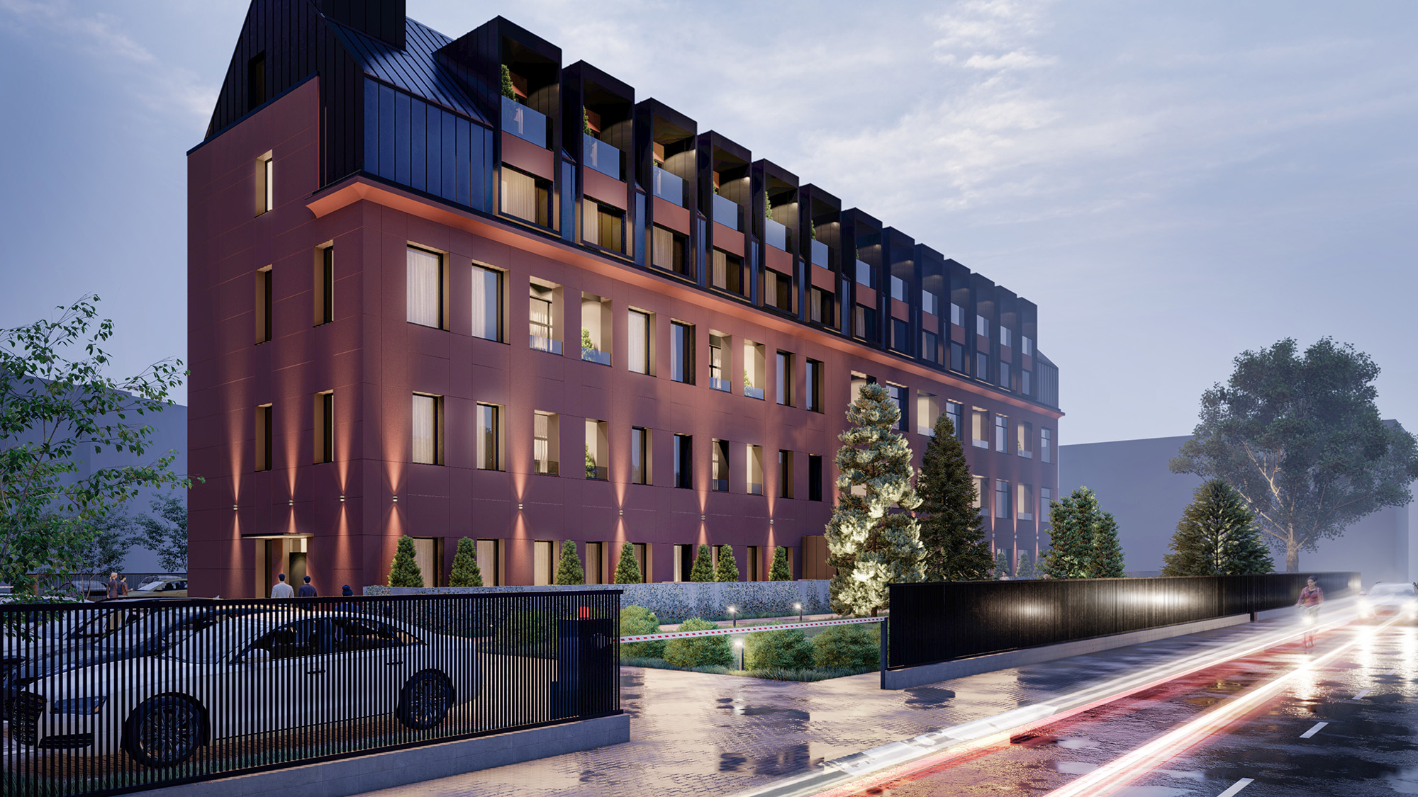 Proiect arhitectural de bloc rezidențial modern