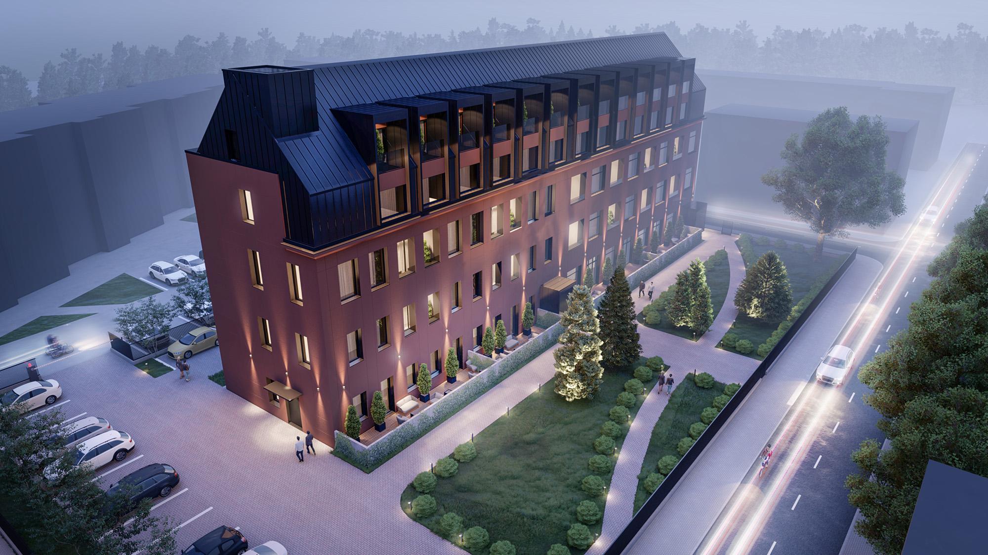 Proiect de bloc rezidențial cu design modern