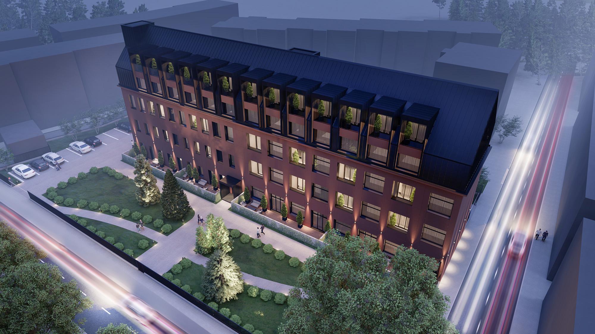 Proiect imobiliar bloc rezidențial modern