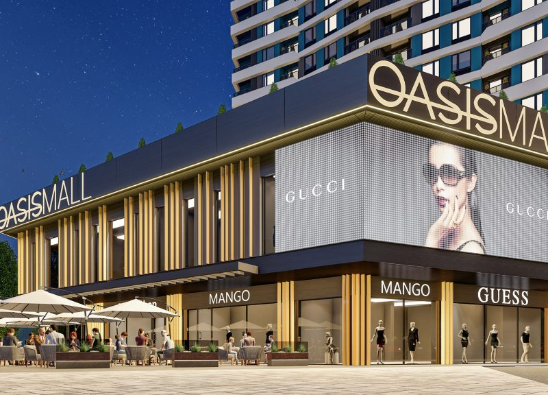 Oasis Mall: aesthetic subtlety in an urban context
