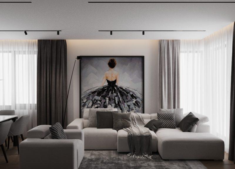 White & Gray Residence– eleganță în tonuri gri