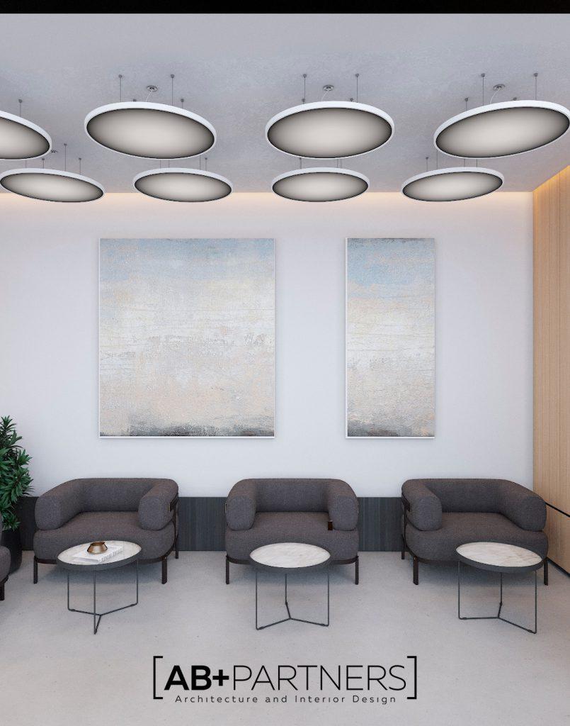 Zona de relaxare direct la oficiu, design interior modern si comod pentru lucru productiv