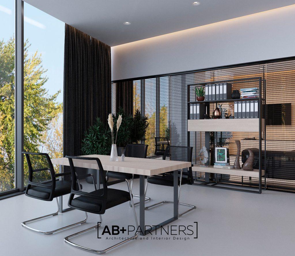 Design interior birou in stil minimalist. Spatii de oficii ecologice si comode Chisinau