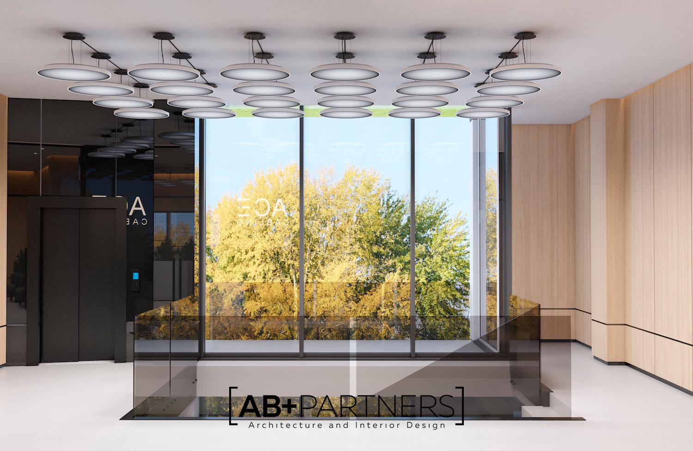 Proiect de interior oficii. Birou in stil minimalist cu geamuri panoramince Chisinau