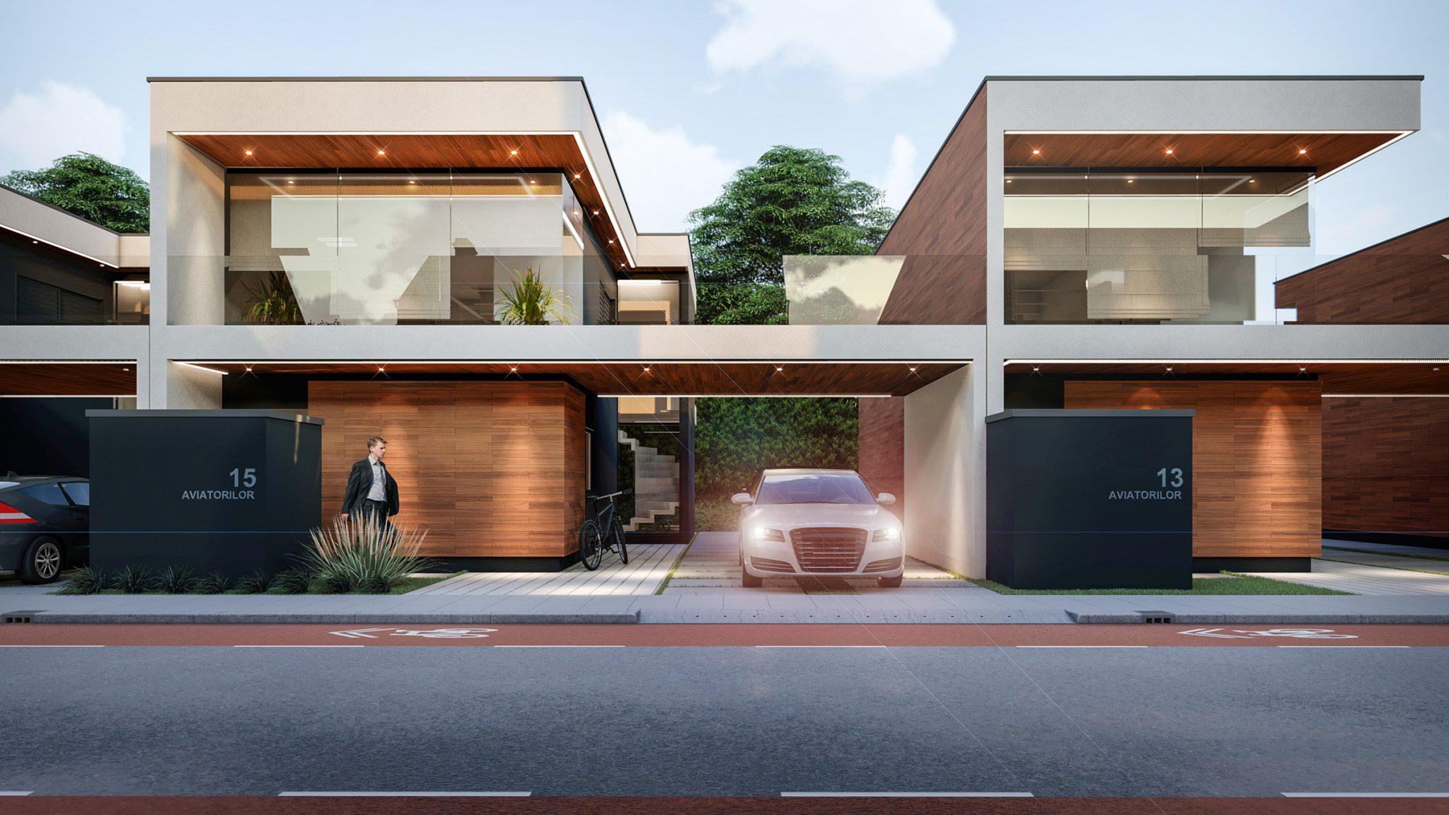 Proiect pentru ansamblu de case individuale in Bucuresti