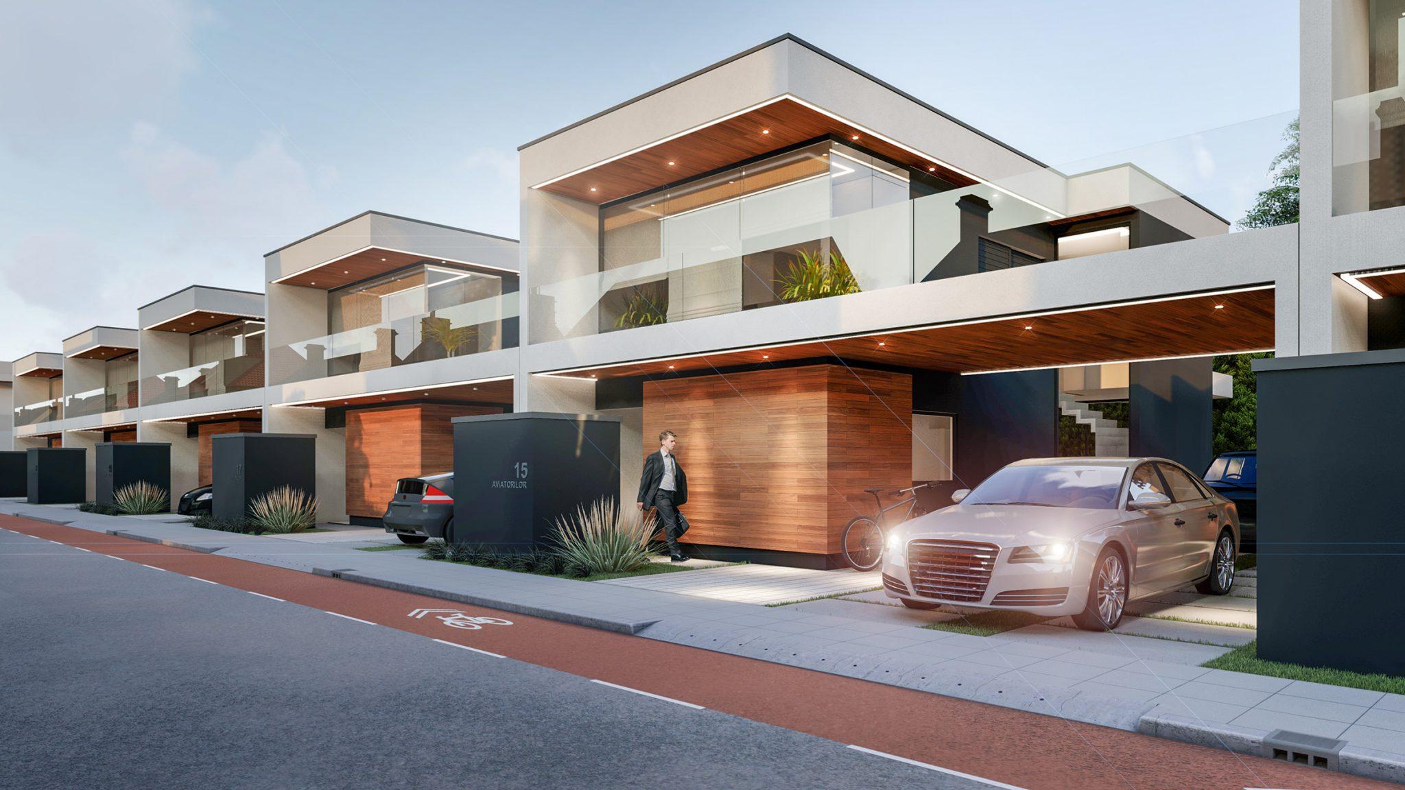 proiect arhitectural pentru case individuale din Bucuresti