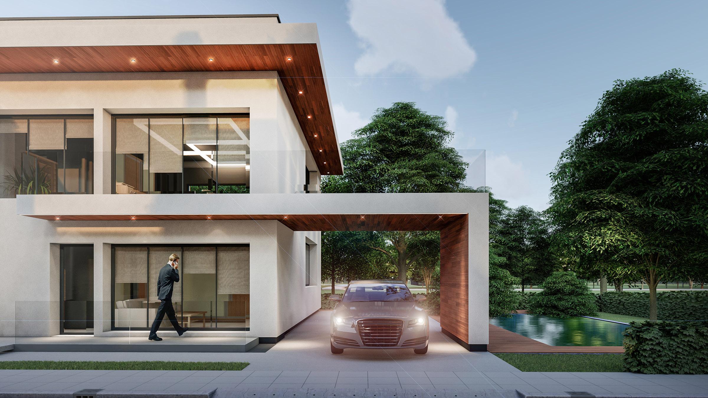 Proiect arhitectural pentru ansamblu de case individuale, AB+Partners