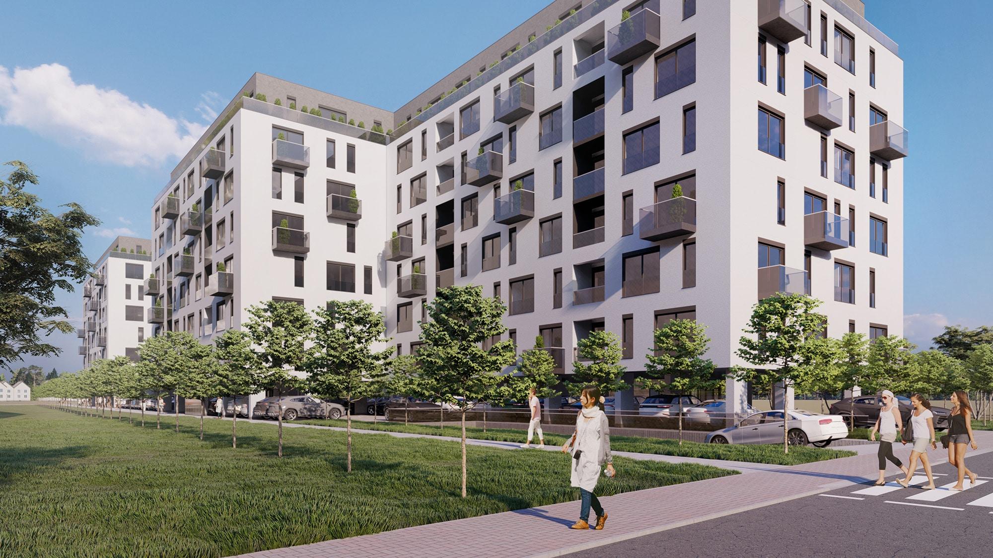 Complex residential in Bucuresti, arhitectura in dinamica in stil minimalist