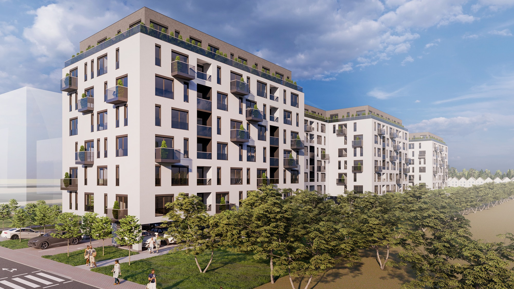 Proiect arhitectural de la biroul de arhotectura AB+Partners, pentru complexul residential in Bucuresti