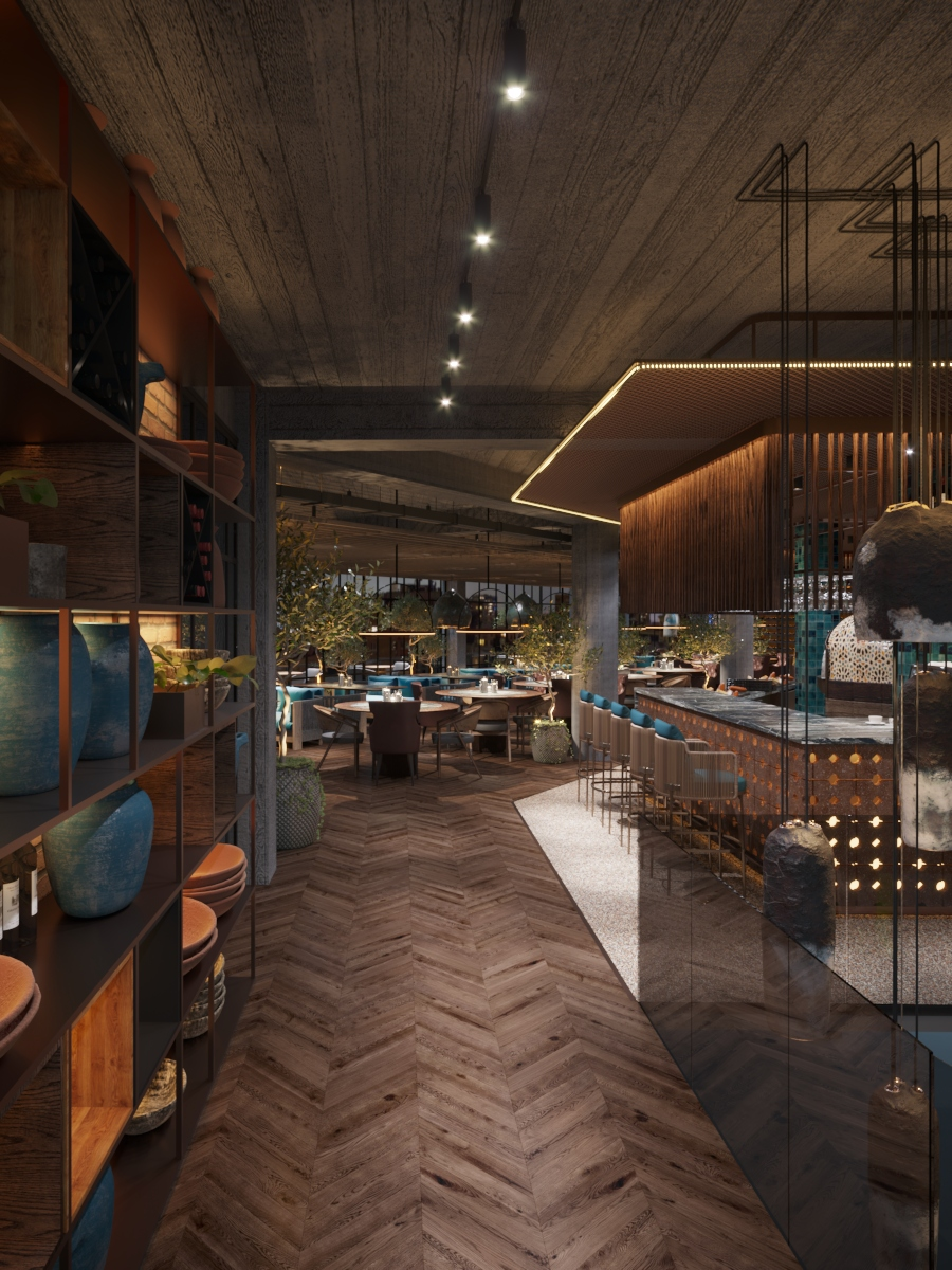 Proiect de interior de restaurant în chisinau, AB+partners