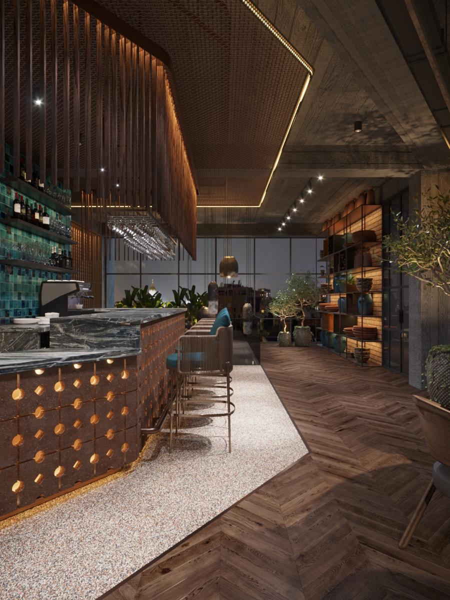 Interior design de restaurant în chisinau, AB+partners