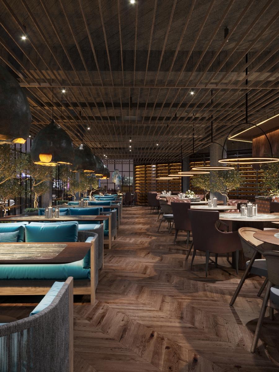 Restaurant in Chisinau, design interior de la biroul de arhitectura ab+partners