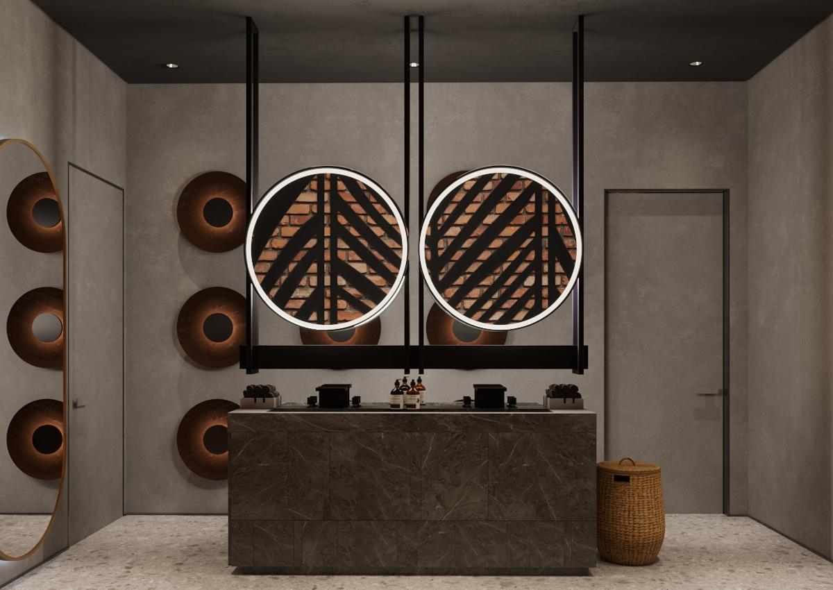 Design interior camera de baie restaurant chisinau