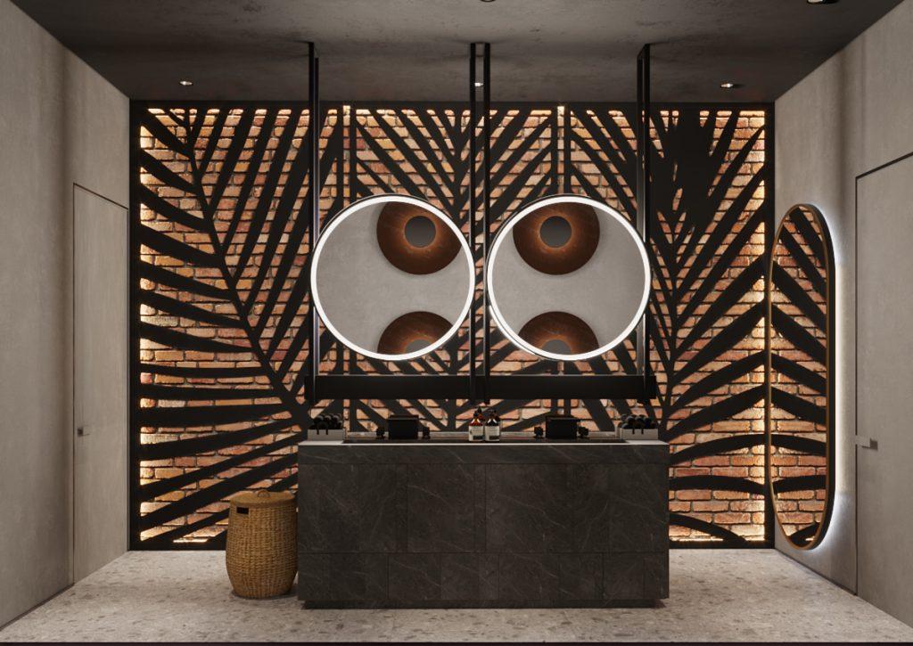Proiect de design interior camera de baie, restaurant chisinau