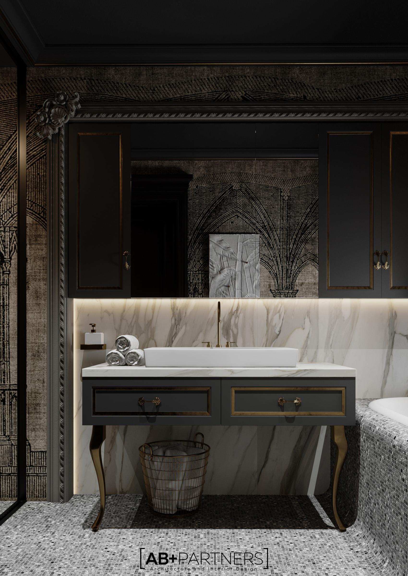 Design de interior individual pentru baie de lux de la ab+partners