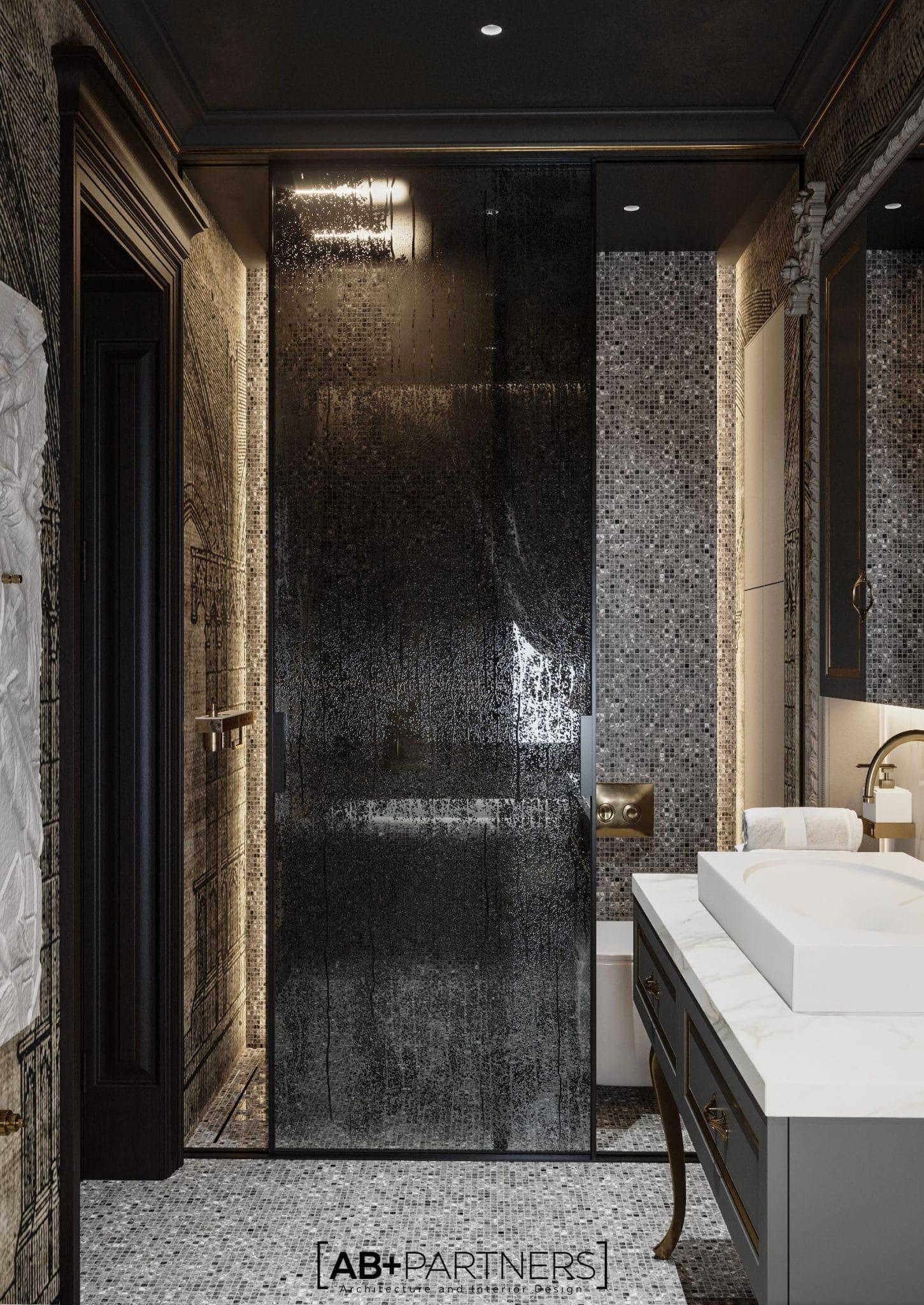 Interior pentru baie, de la biroul de arhitectura ab+partners