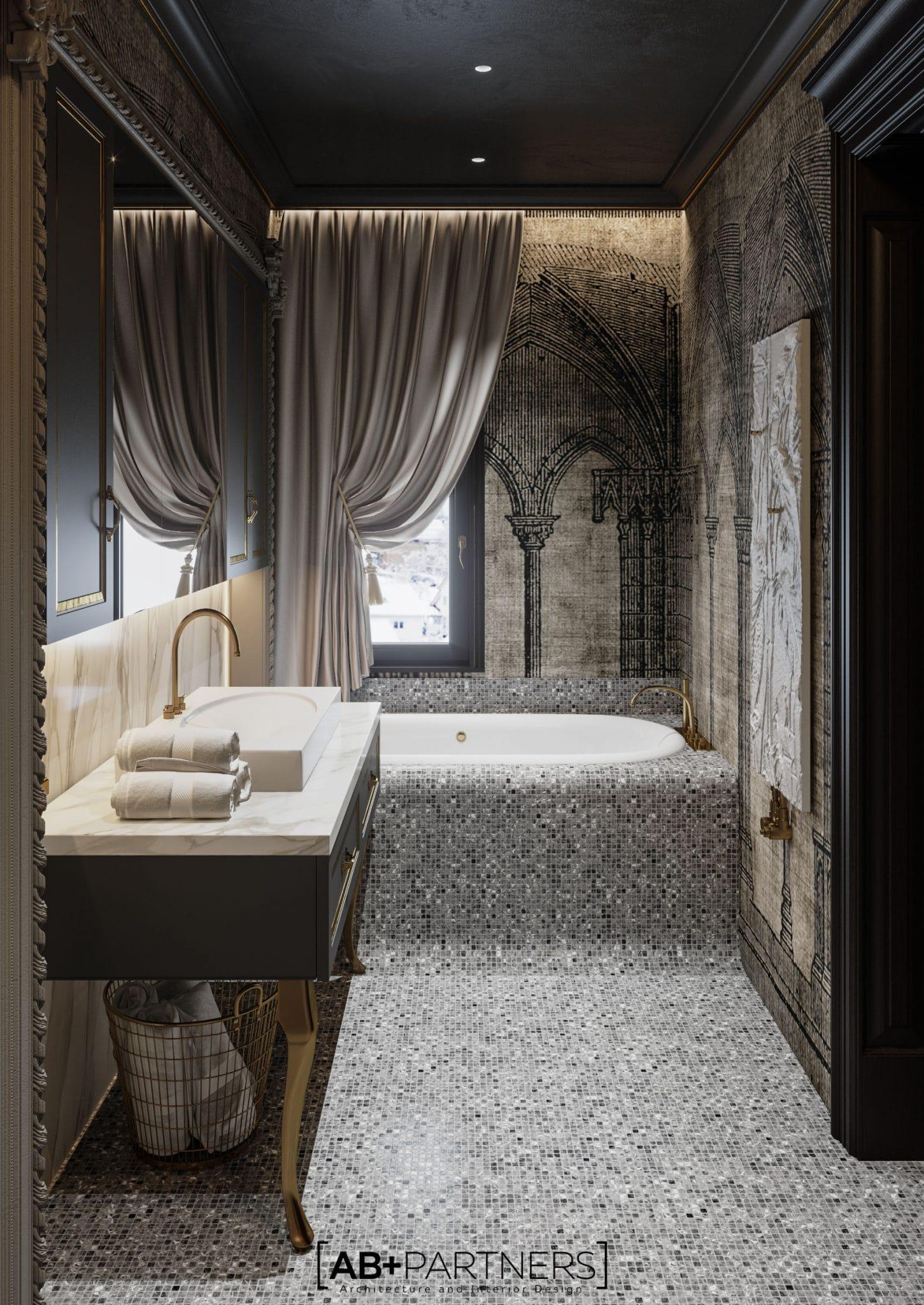 design interior baie cu cada mare, birou de arhitectura ab+partners