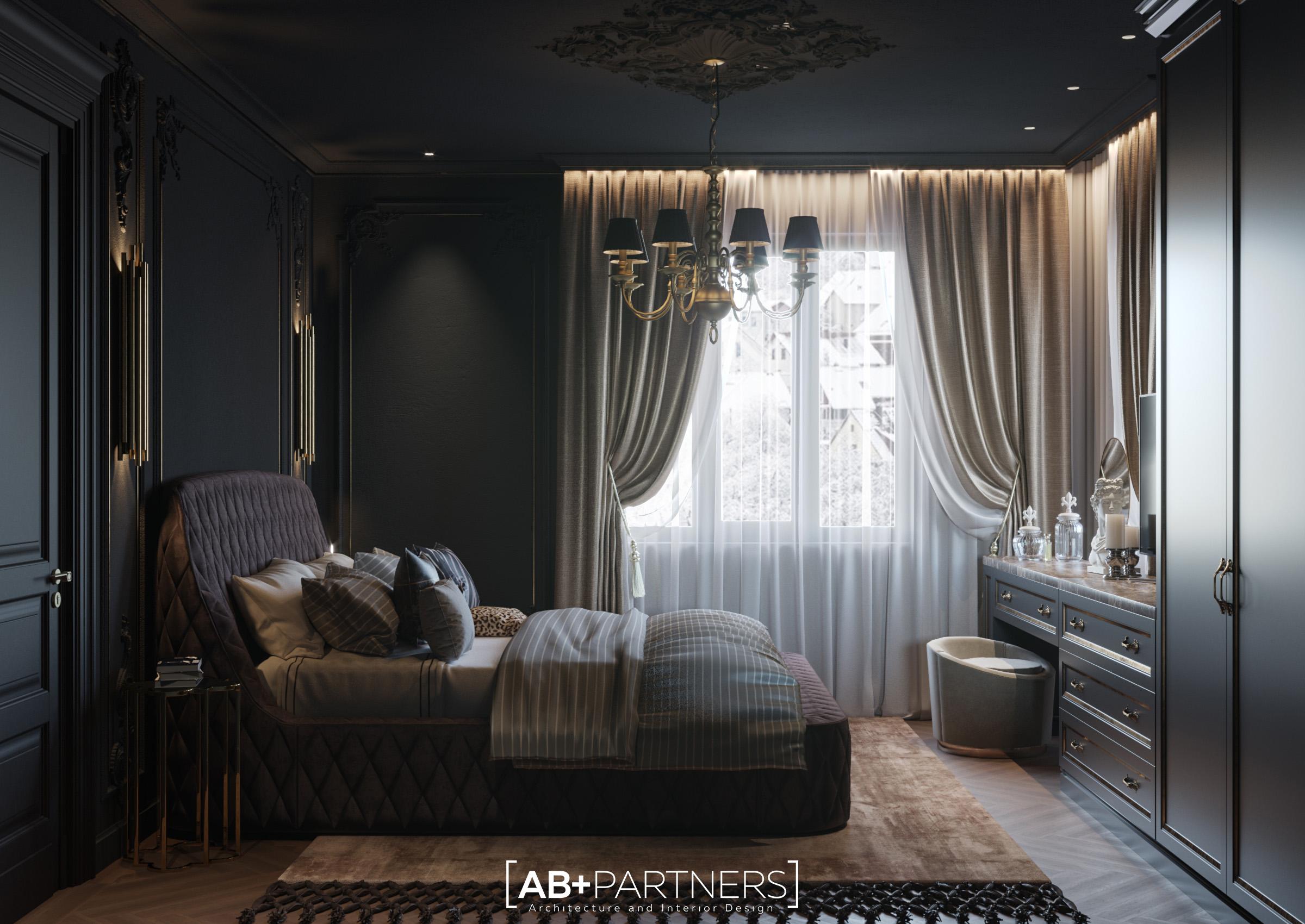 Design de interior in nuante pentru dormitor de la etajul 2