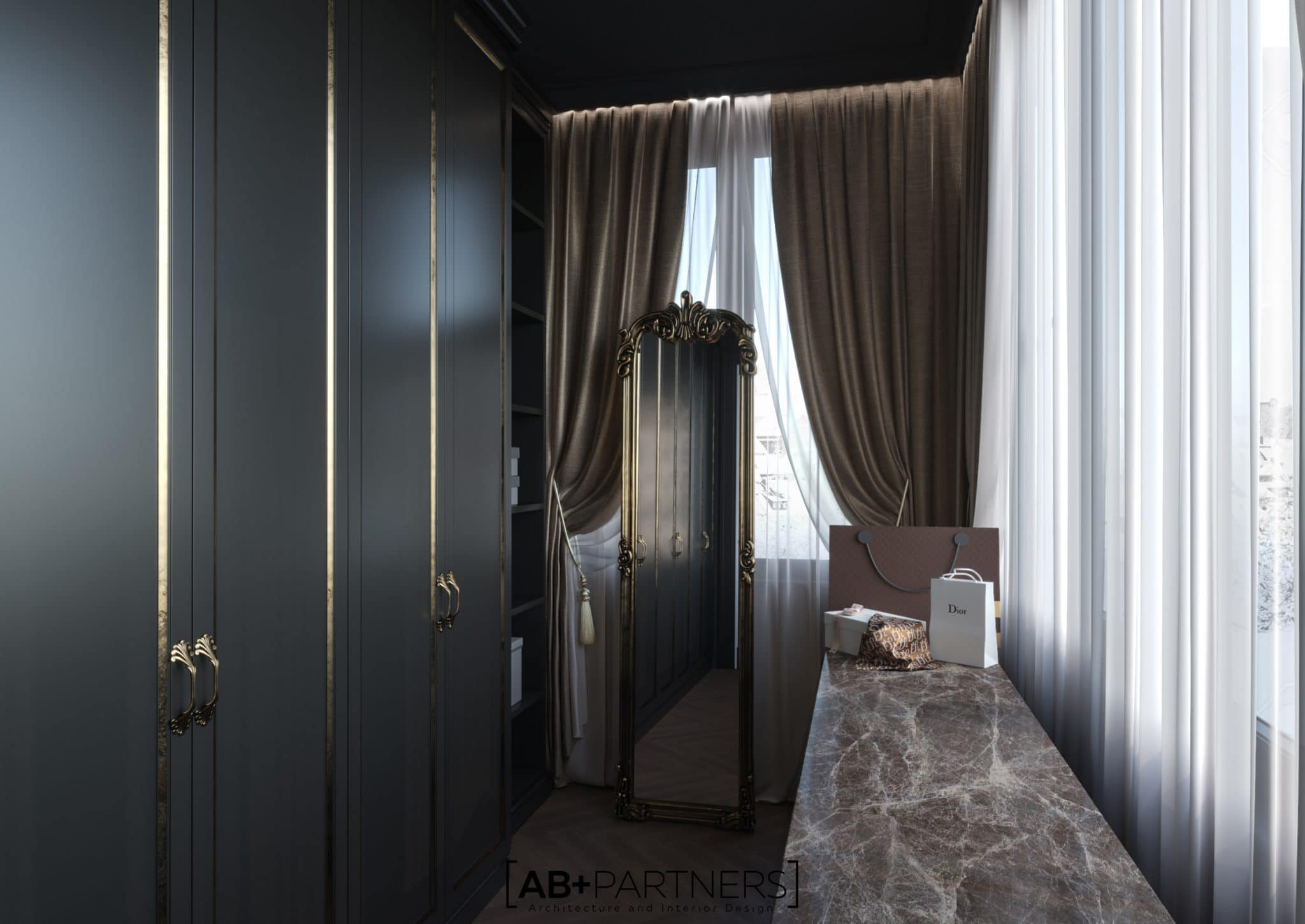 Design pentru camera de garderoba , proiect de la ab+partners