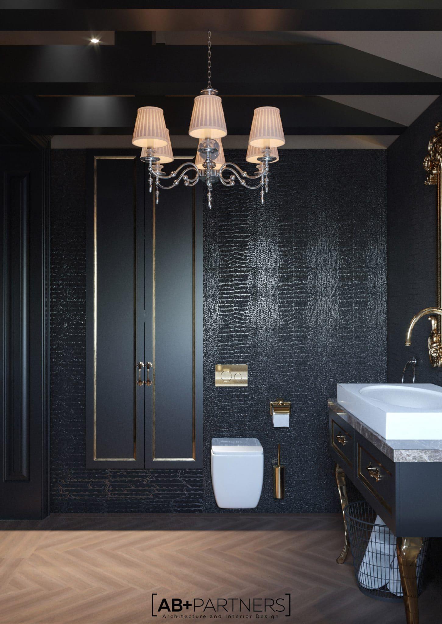 Design pentru baie de la etajul 1, proiect de design de la ab+partners