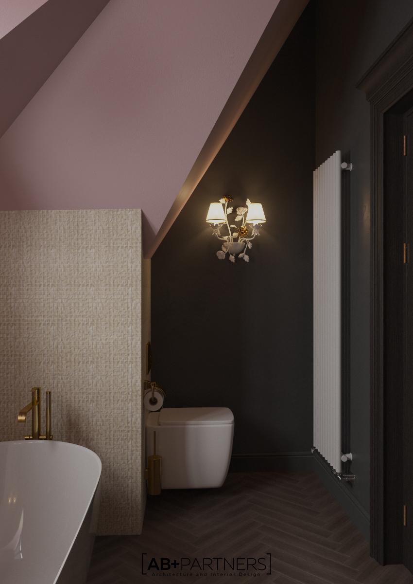 baie mansarda, design interior in Romania, ab and partners