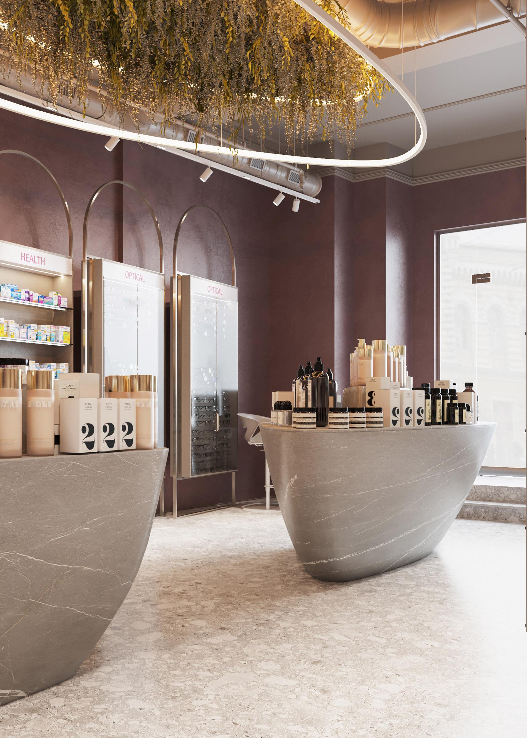 Farmacia Elody, design interior elegant de la ab+partners